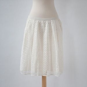 Maeve {Anthro} Lawn Party Skirt in White